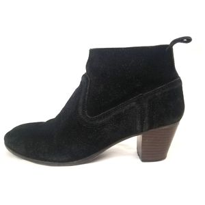 Mossimo | Black Suede Leather Booties